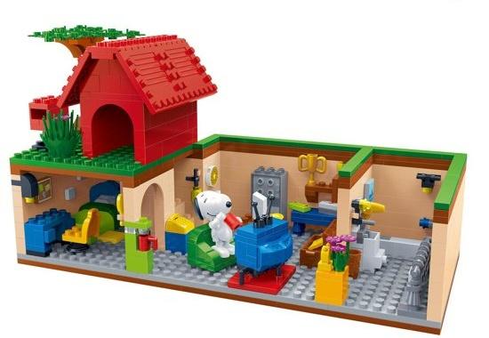 BanBao bouwpakket Snoopy geheime kelder 508 delig