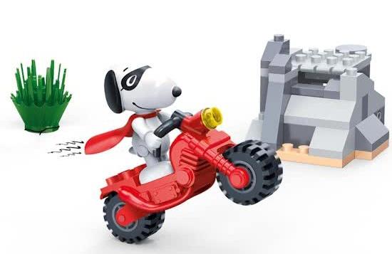 BanBao bouwpakket Snoopy stuntmotor 56 delig