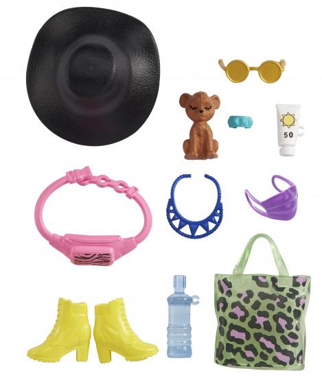 Barbie accessoires tienerpoppen zwarte hoed junior 11 delig