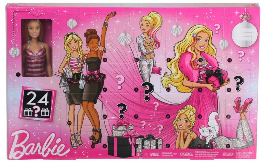 Calendrier Avent Barbie.Calendrier De L Avent 2019 Filles Rose 24 Pieces
