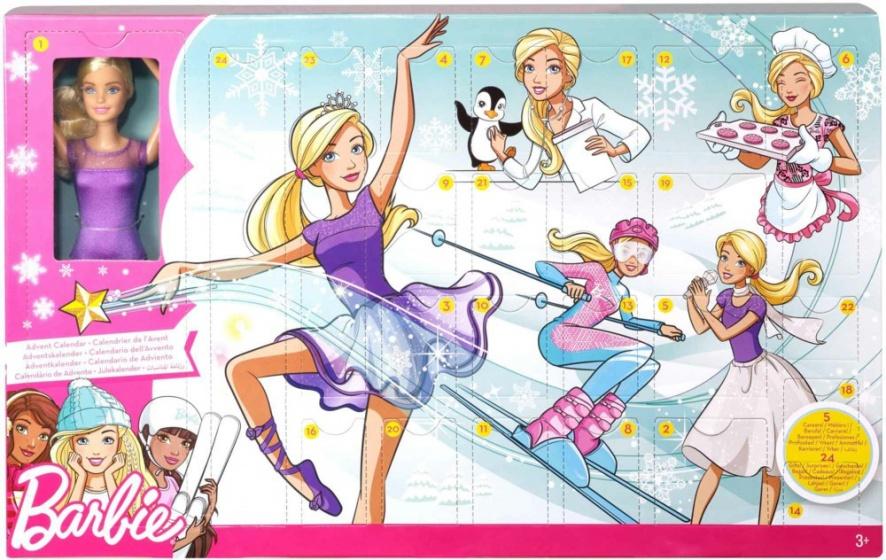 Barbie adventskalender Beroepen meisjes 24 delig