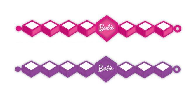 Barbie armbanden Sparkle meisjes paars/roze 4 stuks