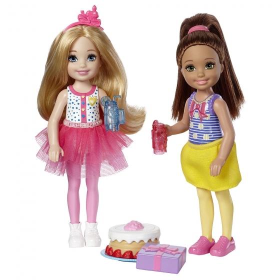 Barbie Club Chelsea tienerpoppen taart 14 cm 6 delig