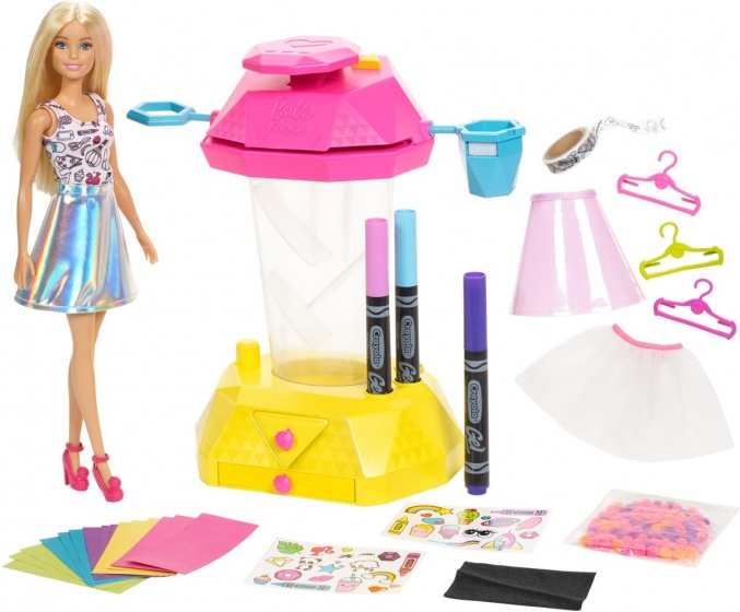 Mattel Barbie confettistudio Crayola 28 delig