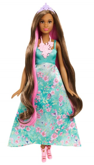 Barbie Dreamtopia Color Styling prinses brunette 33 cm