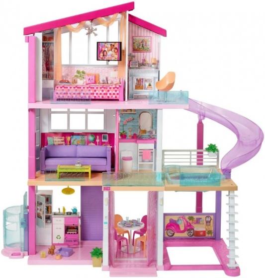 Barbie droomhuis 125 x 120 cm 360º bruikbaar roze