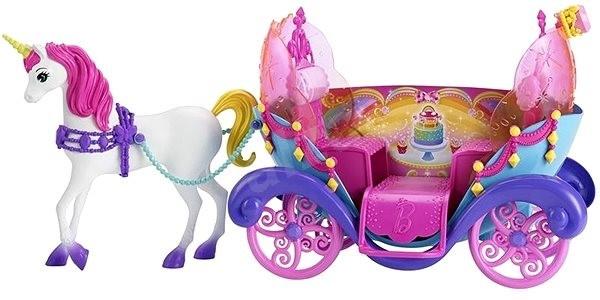 Barbie eenhoorn en koets speelset 3 delig