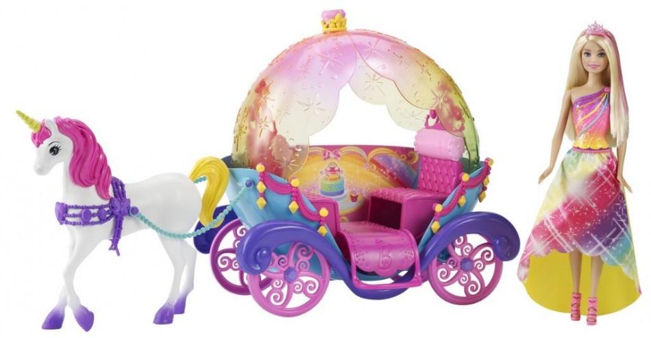 Barbie Eenhoorn met Koets en pop