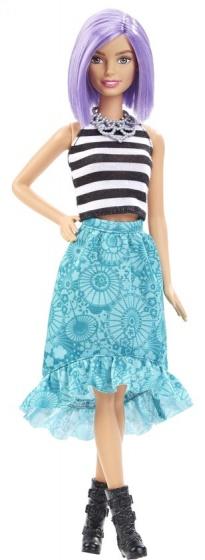 Barbie Fashionista tienerpop violet haar 33 cm