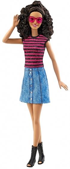 Barbie Fashionistas: tienerpop gestreept shirt 33 cm