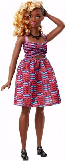 Barbie Fashionistas: tienerpop jurk 33 cm
