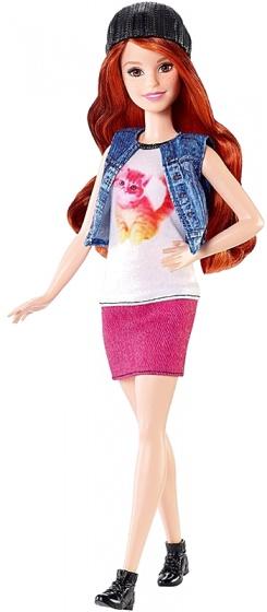 Barbie Fashionistas: tienerpop t shirt met kat 33 cm