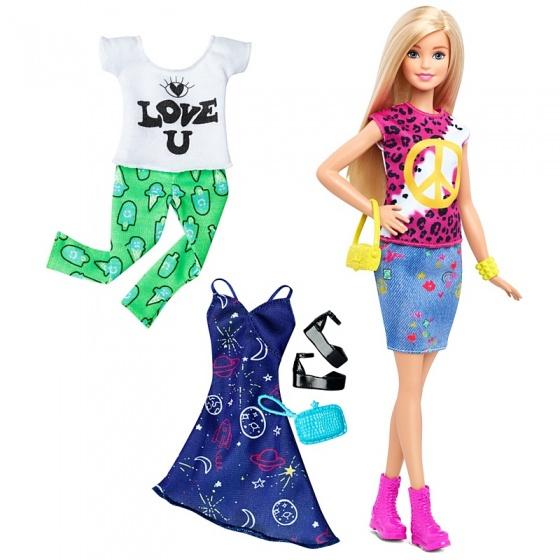Barbie Fashionistas: tienerpop vrede en liefde 33 cm 7 delig