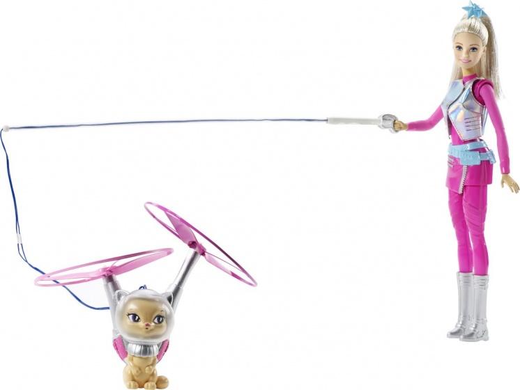 Barbie Galaxy pop met vliegende kat 33 cm