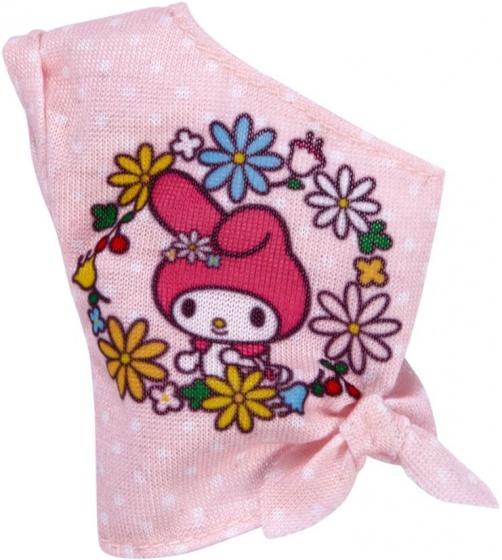 Barbie Hello Kitty tienerpop off shoulder top roze