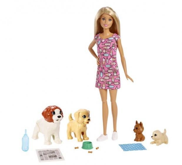 Barbie hondenpension 30 cm 12 delig