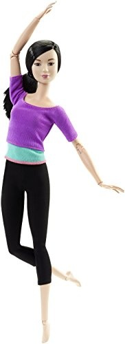 Barbie made to move pop 33 cm paars/zwart