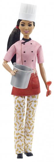 Barbie pastakok pop met koksmuts en accessoires 3 delig