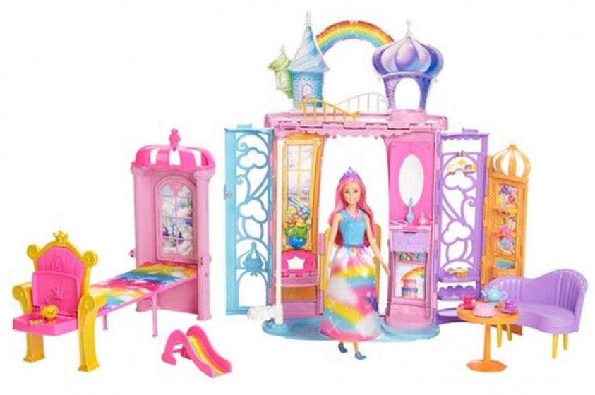 Barbie poppenhuis dreamtopia kasteel meisjes 96 cm for Poppenhuis voor barbie