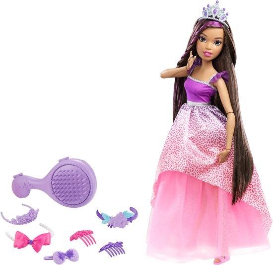 Barbie prinssenpop Wonderlokken Woud 42 cm roze