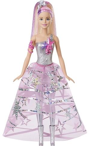 Barbie Star Light Avontuur Barbie in sterrenjurk 33 cm