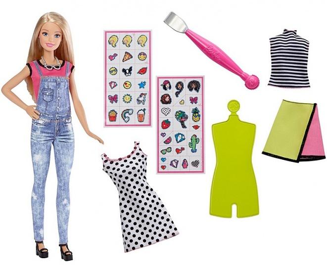 Barbie tienerpop met ontwerpset emoji 33 cm 8 delig