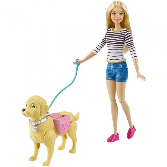 Barbie wandelen en trainen puppy 33 cm