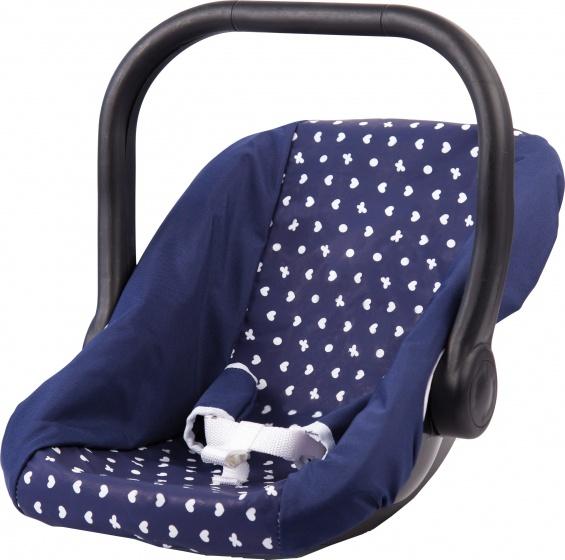 Bayer autostoel voor poppen 44 cm blauw