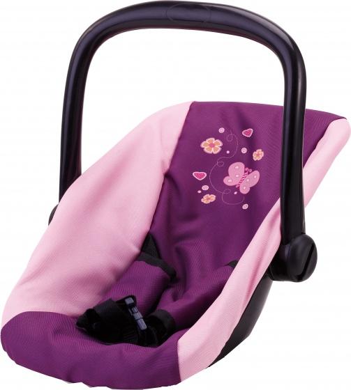 Bayer autostoel voor poppen vlinder roze/paars 44 cm