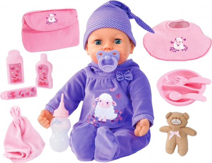 BAYER DESIGN babypop met functie en accessoires, »Piccolina Real Tears, 46 cm«