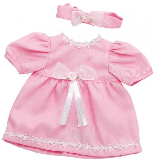 Bayer jurk met hoofdband babypop 30 36 cm lichtroze
