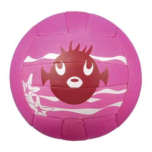Beco neopreen strandbal zeedieren Ø 21 cm roze