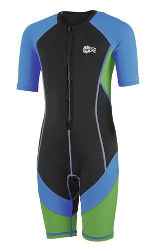Beco wetsuit junior blauw/groen/zwart maat 140