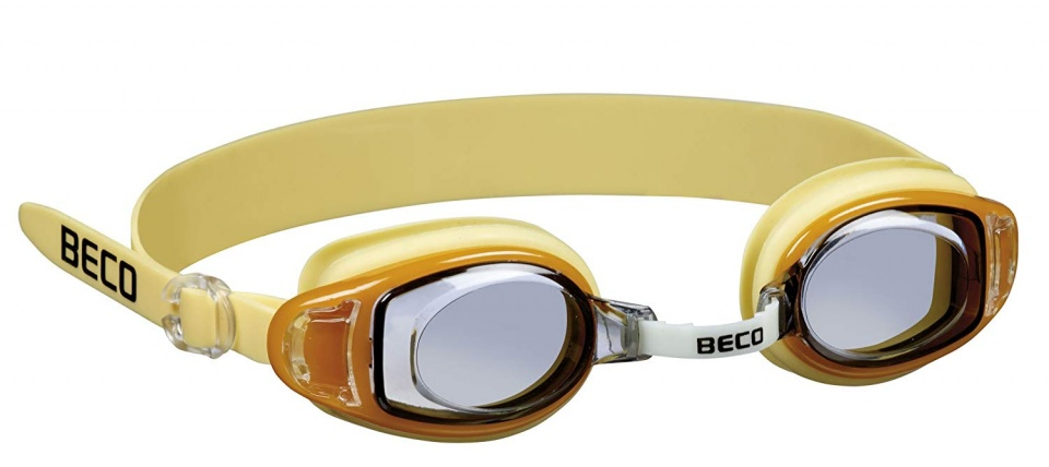 Beco zwembril Acapulco junior polycarbonaat geel one size