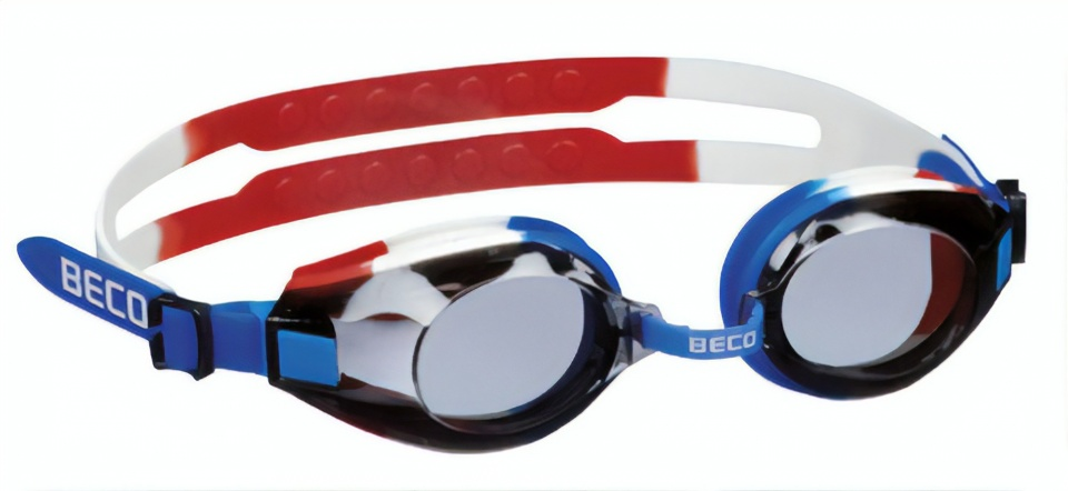 Beco zwembril Arica polycarbonaat junior blauw/wit/rood