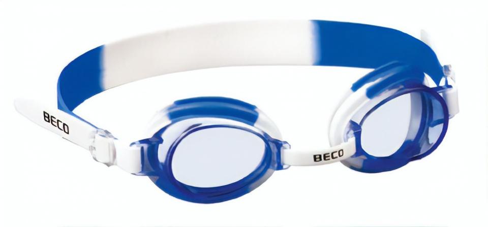 Beco zwembril Halifax polycarbonaat wit/blauw one size