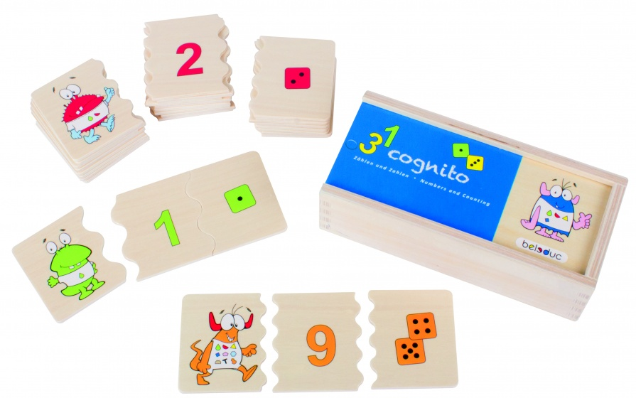 beleduc legpuzzel cognito nummers en tellen 30 stukjes