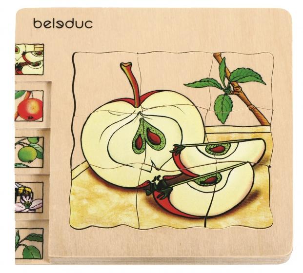 beleduc lagenpuzzel appel 14,5 cm 30 stukjes