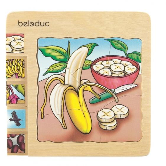 beleduc lagenpuzzel banaan 30 stukjes
