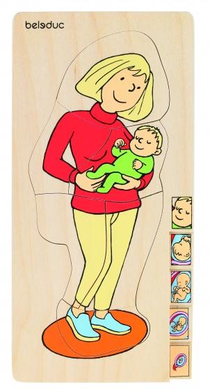 beleduc lagenpuzzel moeder 5 stukjes