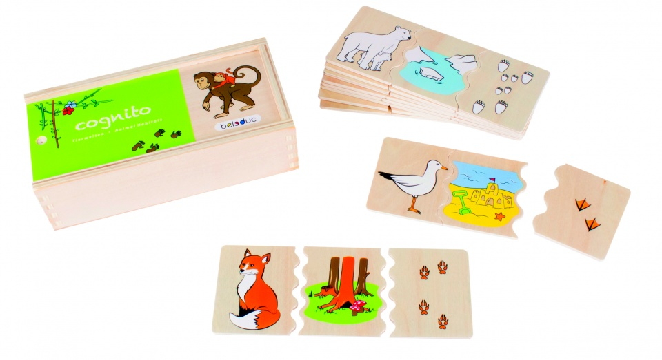 beleduc legpuzzel cognito dieren 30 stukjes