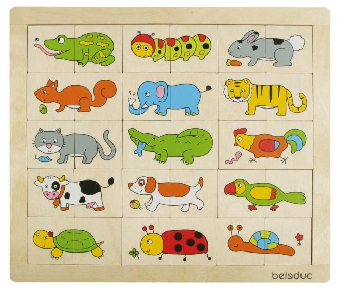 beleduc legpuzzel fantasiedieren 30 stukjes