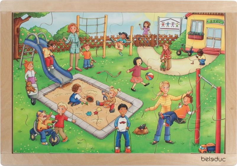 beleduc legpuzzel kleuterschool 24 stukjes 41 cm