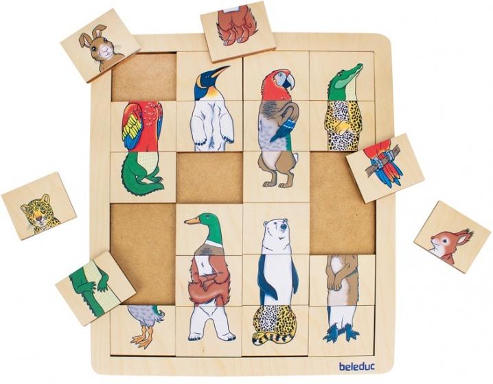 beleduc legpuzzel mix & match dieren 24 stukjes