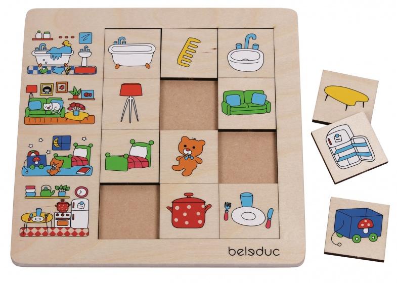 beleduc puzzel ons huis 12 stukjes 25 cm