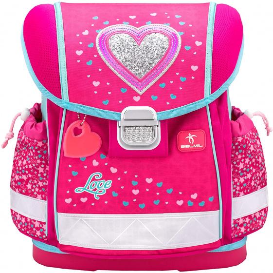 Belmil rugzak hartje junior 19 liter polyester roze/blauw