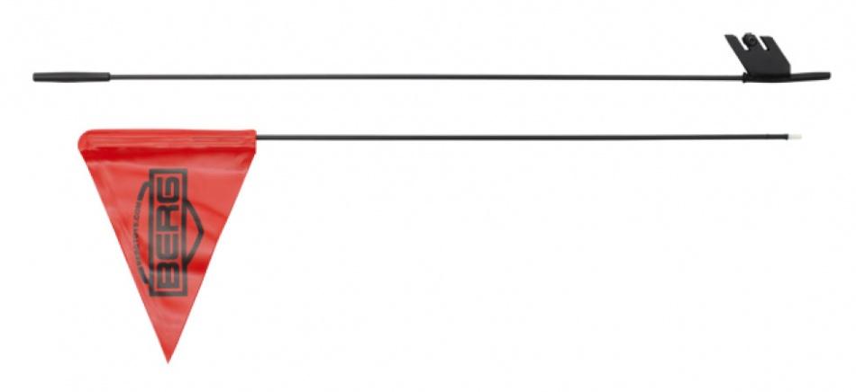 BERG Buddy fietsvlag met houder 160 cm kunststof