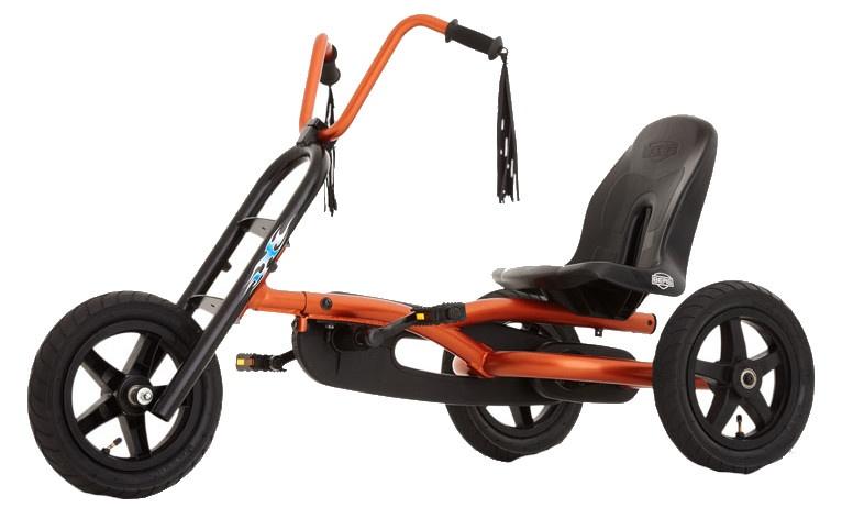 BERG Skelter Choppy 120 x 65 x 70 cm oranje/ zwart