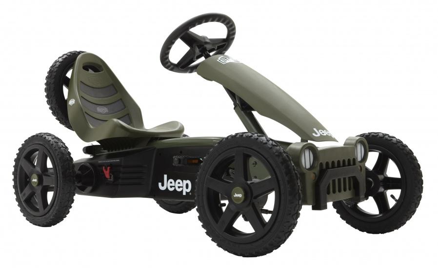 BERG Skelter Jeep Adventure 124 x 70 x 64 cm groen/ zwart