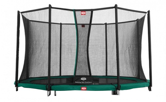 BERG Trampoline Favorit Inground met Safety net 430 cm groen